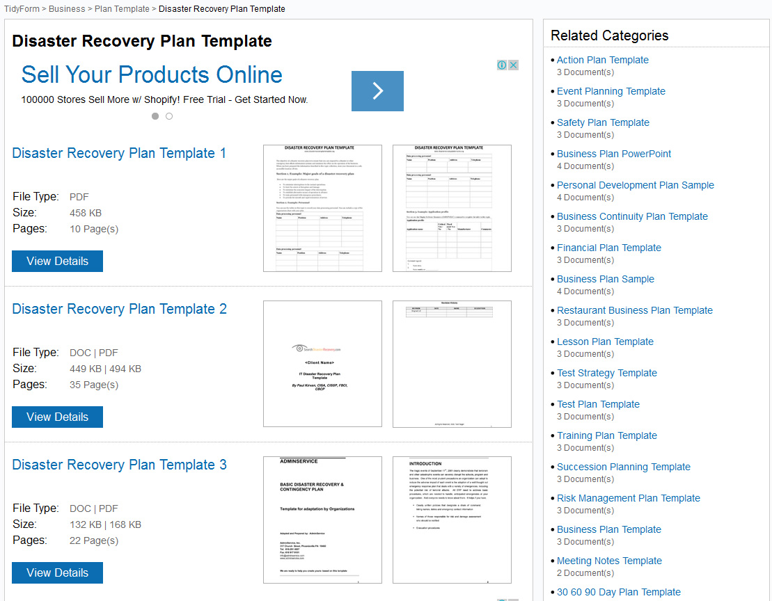 Doc580650 Disaster Recovery Plan Template Sample Disaster – Disaster Recovery Plan Template