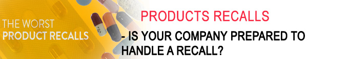 Environmental Disasters Product Recall